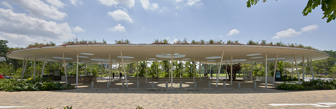 Arrival Pavilion, designed by CPG Consultants